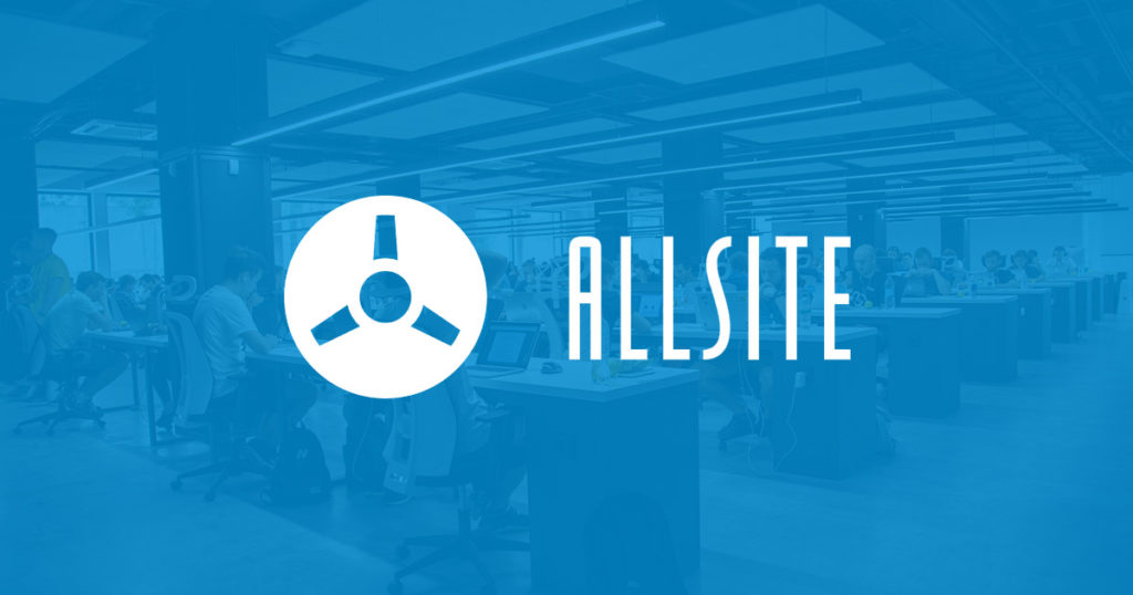 Allsite IT Managed IT Servcies Logo with blue office background
